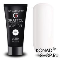 Grattol Acryl Gel 02 - акригель белый 02