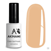 Гель-лак AKINAMI Color Gel Polish тон  №08 Latte