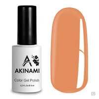 Гель-лак AKINAMI Color Gel Polish тон  №09 Peach Echo
