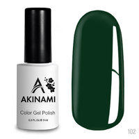 Гель-лак AKINAMI Color Gel Polish тон №102 Dark Green