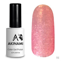 Гель-лак AKINAMI Color Gel Polish тон №116 Pink Glass