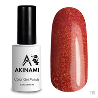 Гель-лак AKINAMI Color Gel Polish тон №119 Orange Sparks