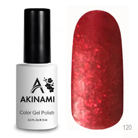 Гель-лак AKINAMI Color Gel Polish тон №120 Glitter Red