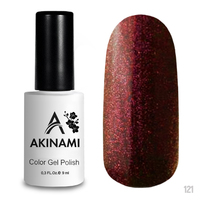 Гель-лак AKINAMI Color Gel Polish тон №121 Cosmo Carmine