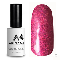 Гель-лак AKINAMI Color Gel Polish тон №123 Pink Holography