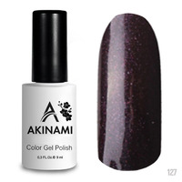 Гель-лак AKINAMI Color Gel Polish тон №127 Black Brown