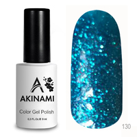 Гель-лак AKINAMI Color Gel Polish тон №130 Blue Sparks