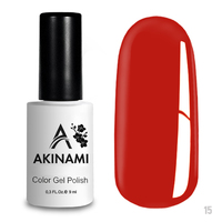 Гель-лак AKINAMI Color Gel Polish тон  №15 Orange Red