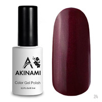Гель-лак AKINAMI Color Gel Polish тон  №24 Marsala Pearl