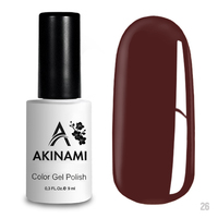 Гель-лак AKINAMI Color Gel Polish тон  №26 Red Brown