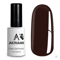 Гель-лак AKINAMI Color Gel Polish тон  №27 Chocolate
