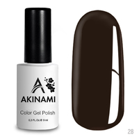 Гель-лак AKINAMI Color Gel Polish тон  №28 Coffe