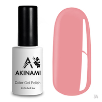 Гель-лак AKINAMI Color Gel Polish тон  №34 Powder Pink