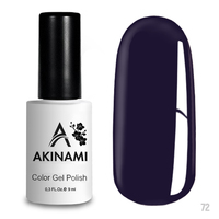 Гель-лак AKINAMI Color Gel Polish тон  №72 Indigo