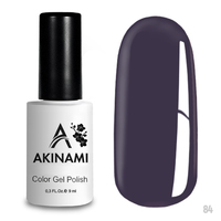 Гель-лак AKINAMI Color Gel Polish тон  №84 Gray Violet