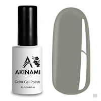 Гель-лак AKINAMI Color Gel Polish тон  №86 Gray Silk