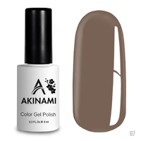 Гель-лак AKINAMI Color Gel Polish тон  №87 Warm Taupe