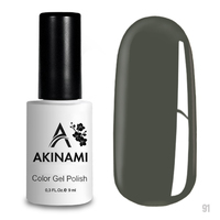 Гель-лак AKINAMI Color Gel Polish тон  №91 Aluminum