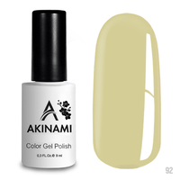 Гель-лак AKINAMI Color Gel Polish тон  №92 Pale Yellow