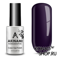 Гель-лак AKINAMI Color Gel Polish тон №157 Black Violet