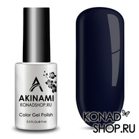 Гель-лак AKINAMI Color Gel Polish тон №158 Black Blue
