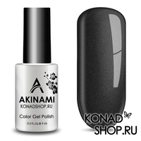 Гель-лак AKINAMI Color Gel Polish тон №161 Black Metal
