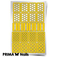 Трафарет для дизайна ногтей PrimaNails. Абстракция - 2