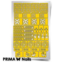 Трафарет для дизайна ногтей PrimaNails. Африка