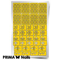 Трафарет для дизайна ногтей PrimaNails. Арабеска