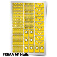 Трафарет для дизайна ногтей PrimaNails. Ацтеки и Майя 2