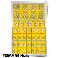 Трафарет для дизайна ногтей PrimaNails. Бабочки, стрекозки