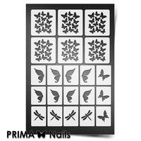 Трафарет для ногтей PrimaNails.NEW SIZE Бабочки, стрекозки