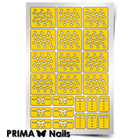 Трафарет для дизайна ногтей PrimaNails. Бантики