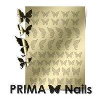 Металлизированные наклейки Prima Nails. Арт.BF-01, Золото