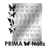 Металлизированные наклейки Prima Nails. Арт.BF-01, Серебро