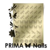 Металлизированные наклейки Prima Nails. Арт.BF-02, Золото