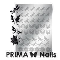 Металлизированные наклейки Prima Nails. Арт.BF-02, Серебро