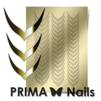 Металлизированные наклейки Prima Nails. Арт.CL-004, Золото