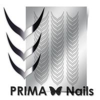Металлизированные наклейки Prima Nails. Арт.CL-004, Серебро