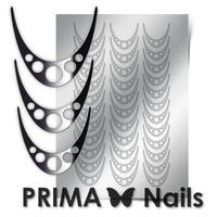 Металлизированные наклейки Prima Nails. Арт.CL-005, Серебро