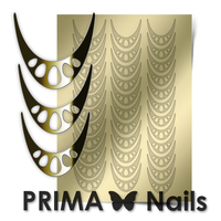Металлизированные наклейки Prima Nails. Арт.CL-006, Золото