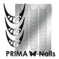 Металлизированные наклейки Prima Nails. Арт.CL-006, Серебро