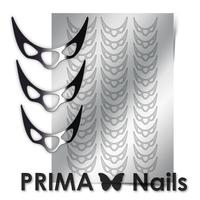 Металлизированные наклейки Prima Nails. Арт.CL-007, Серебро