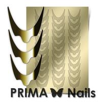 Металлизированные наклейки Prima Nails. Арт.CL-008, Золото