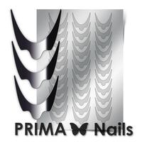 Металлизированные наклейки Prima Nails. Арт.CL-008, Серебро