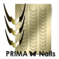 Металлизированные наклейки Prima Nails. Арт.CL-009, Золото