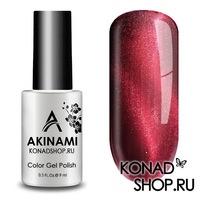 Гель-лак AKINAMI Color Gel Polish - Cat Eye Dark Red