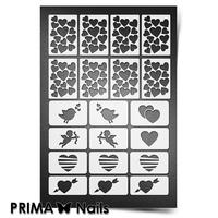 Трафарет для ногтей PrimaNails.NEW SIZE День Влюбленных