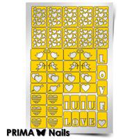 Трафарет для дизайна ногтей PrimaNails. День Влюбленных