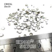 СТРАЗЫ  Crystal  (150шт)   DIA 001